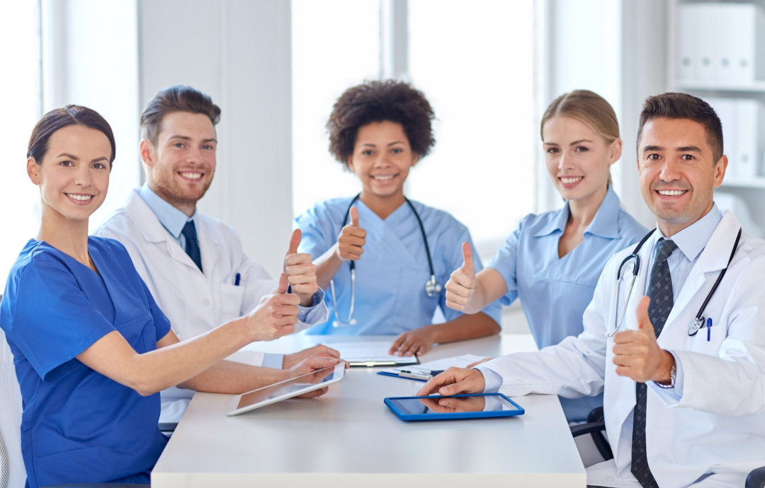 medical professionals smiling
